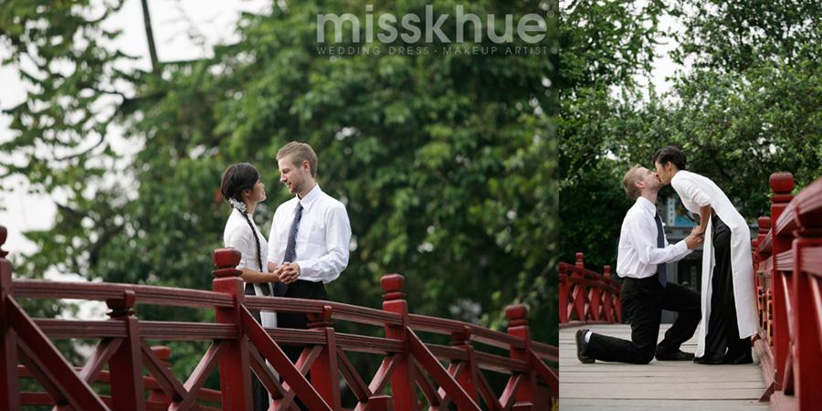 Album ảnh cưới ngoại cảnh chụp tại Bờ hồ Hoàn Kiếm, Hà Nội